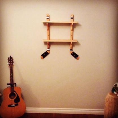 Adorable Hockey Shelf I made for Jett Larter.