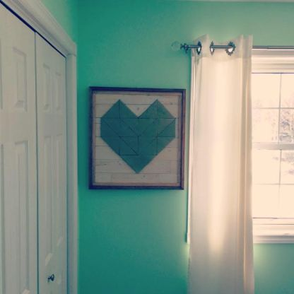 I built this heart for my soon-to-be daughter's room.